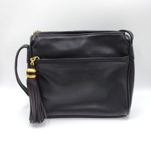Tignanello Black Crossbody Tassel